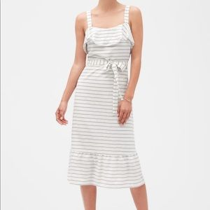 ✨NWOT✨ Stripe Strappy Flounce Midi Sundress